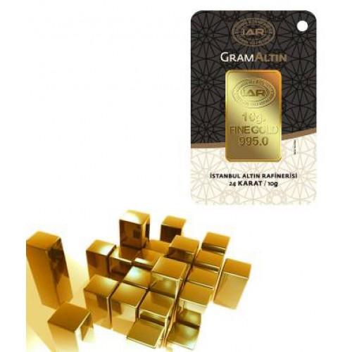 10 gr IAR Gram Külçe Altın (stokla sınırlıdır)