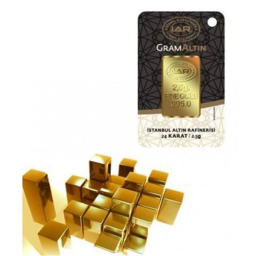 2,5 Gr Külçe Altın IAR 24 Ayar (stokla sınırlıdır)