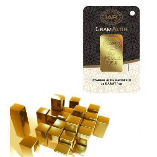5 Gr Külçe Altın IAR 24 Ayar (stokla sınırlıdır)